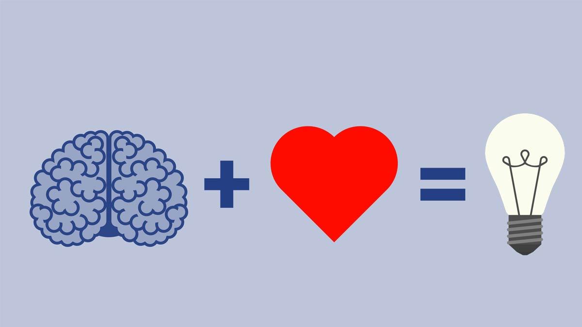 illustration brain heart knowlefge Home